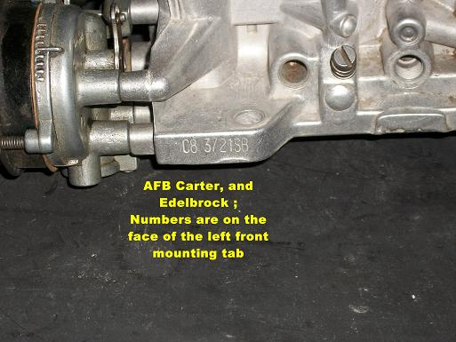 Carter Afb Carb Numbers http://carburetorsandmore.com/new_page_2.htm